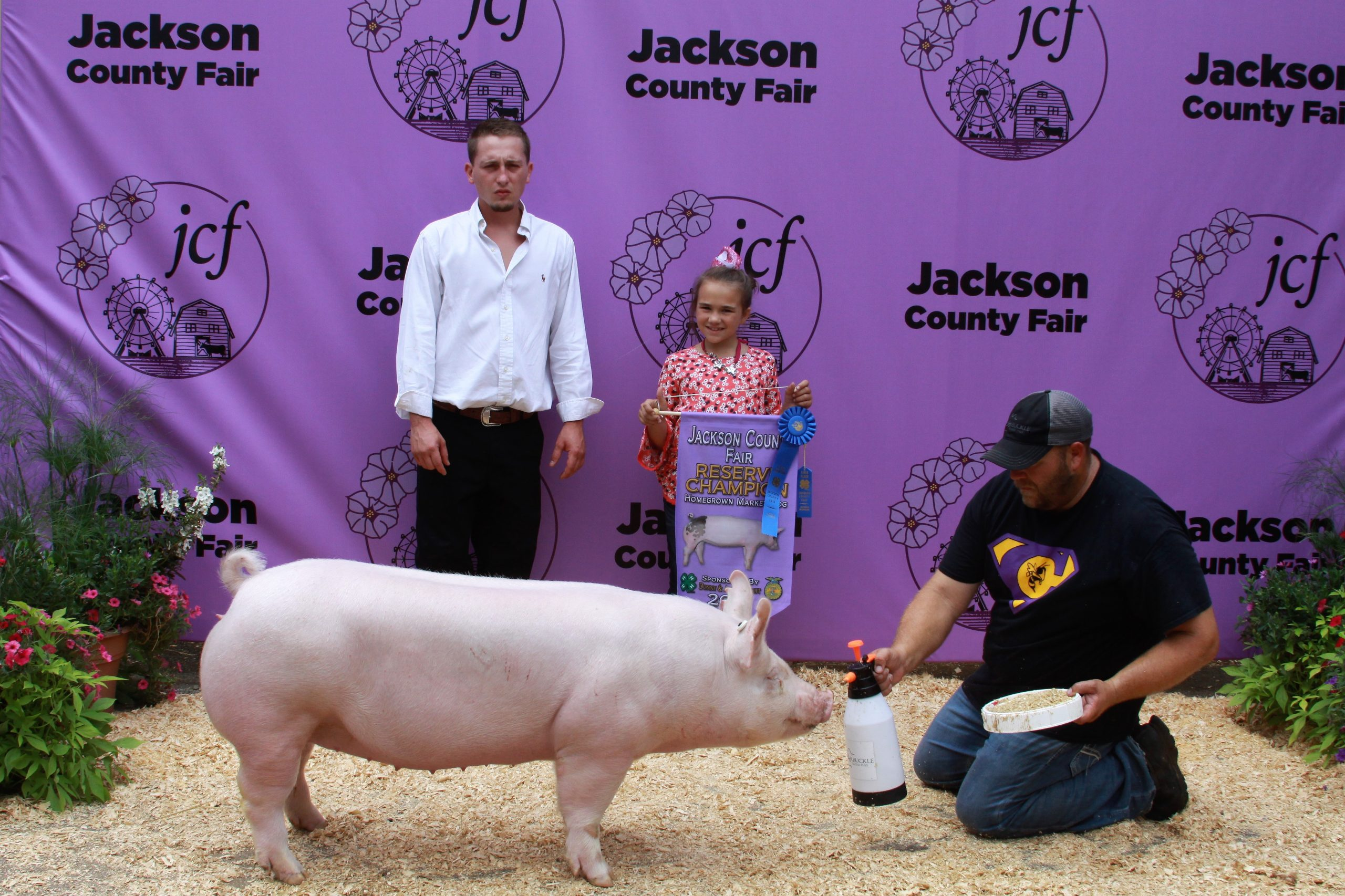 2019 Jackson County Fair, Reserve Champion Homegrown, Sired by Hand It Over