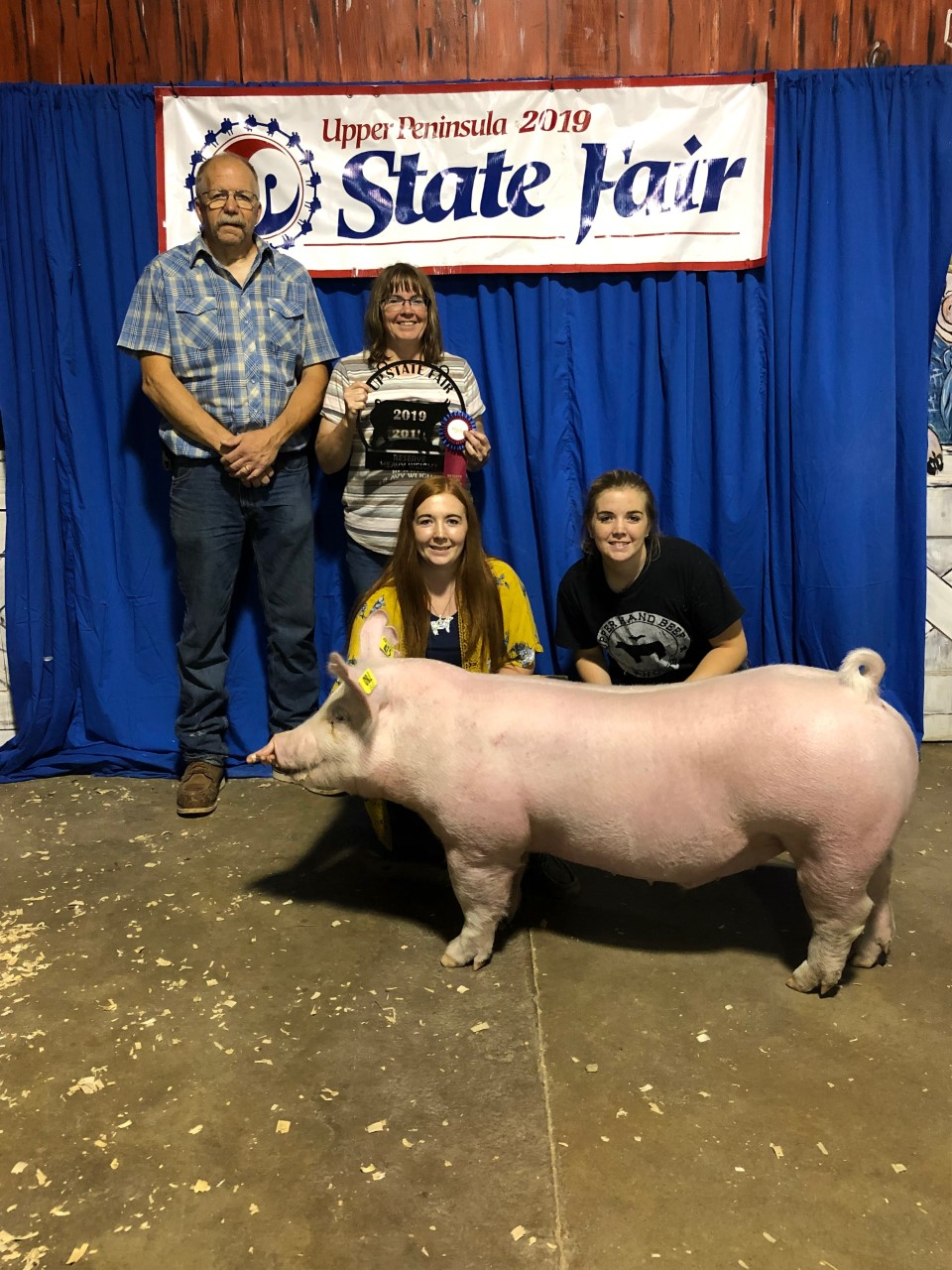 2019 U.P. State Fair, Reserve Champion Heavy Weight Barrow, Sired by Hand It Over