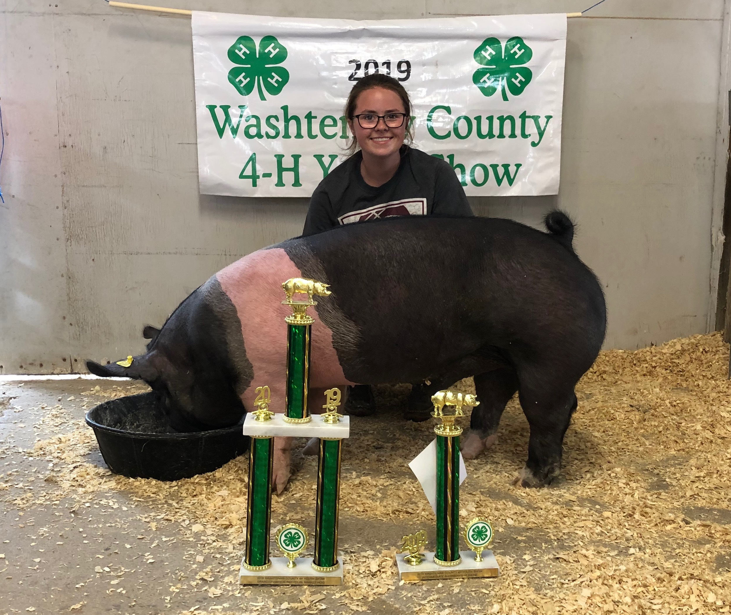 2019 Washtenaw County Fair, Grand Champion Market Hog, Sired by Keg Stand