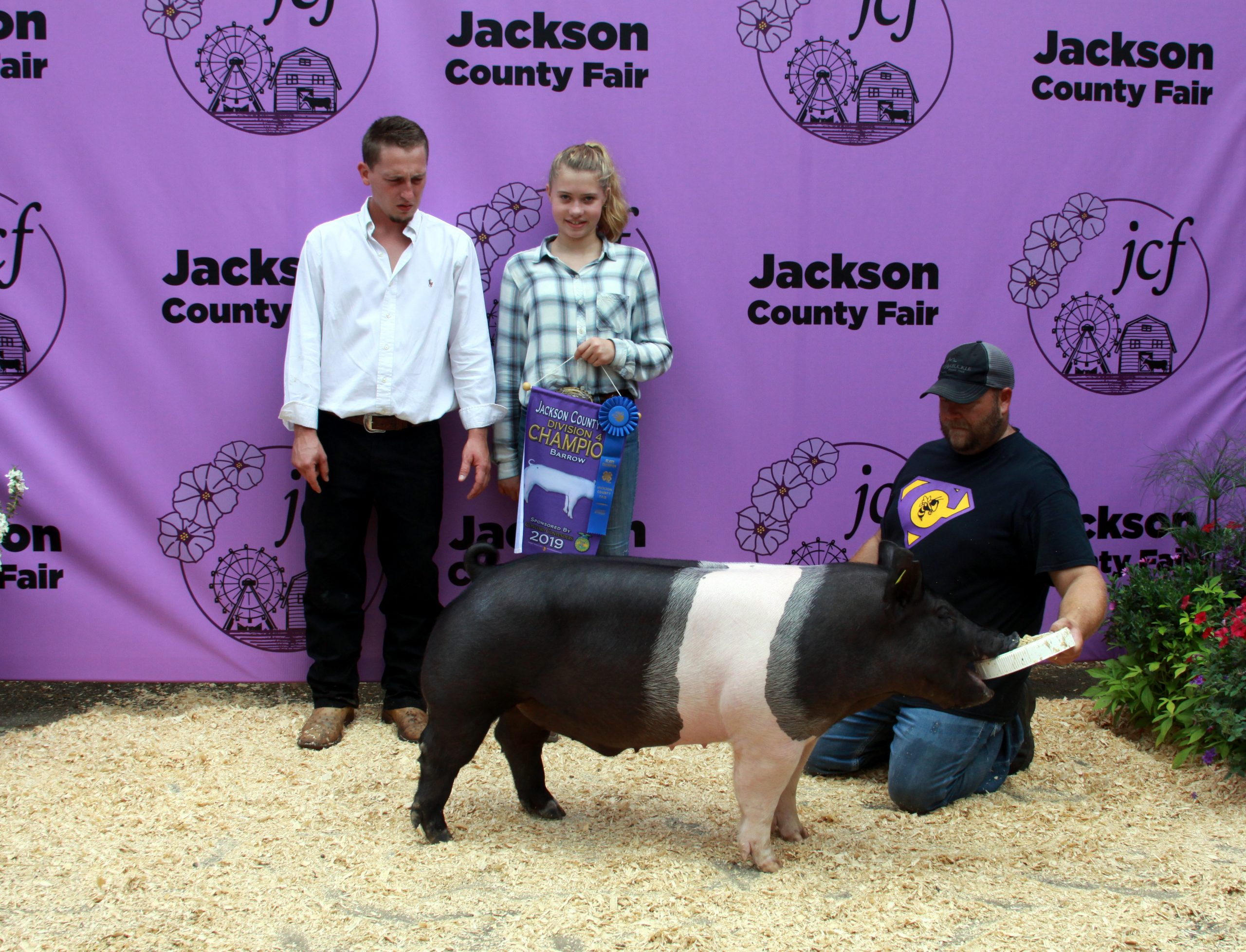 Jackson County Fair, Division 4 Champion Barrow, Sired by Keg Stand