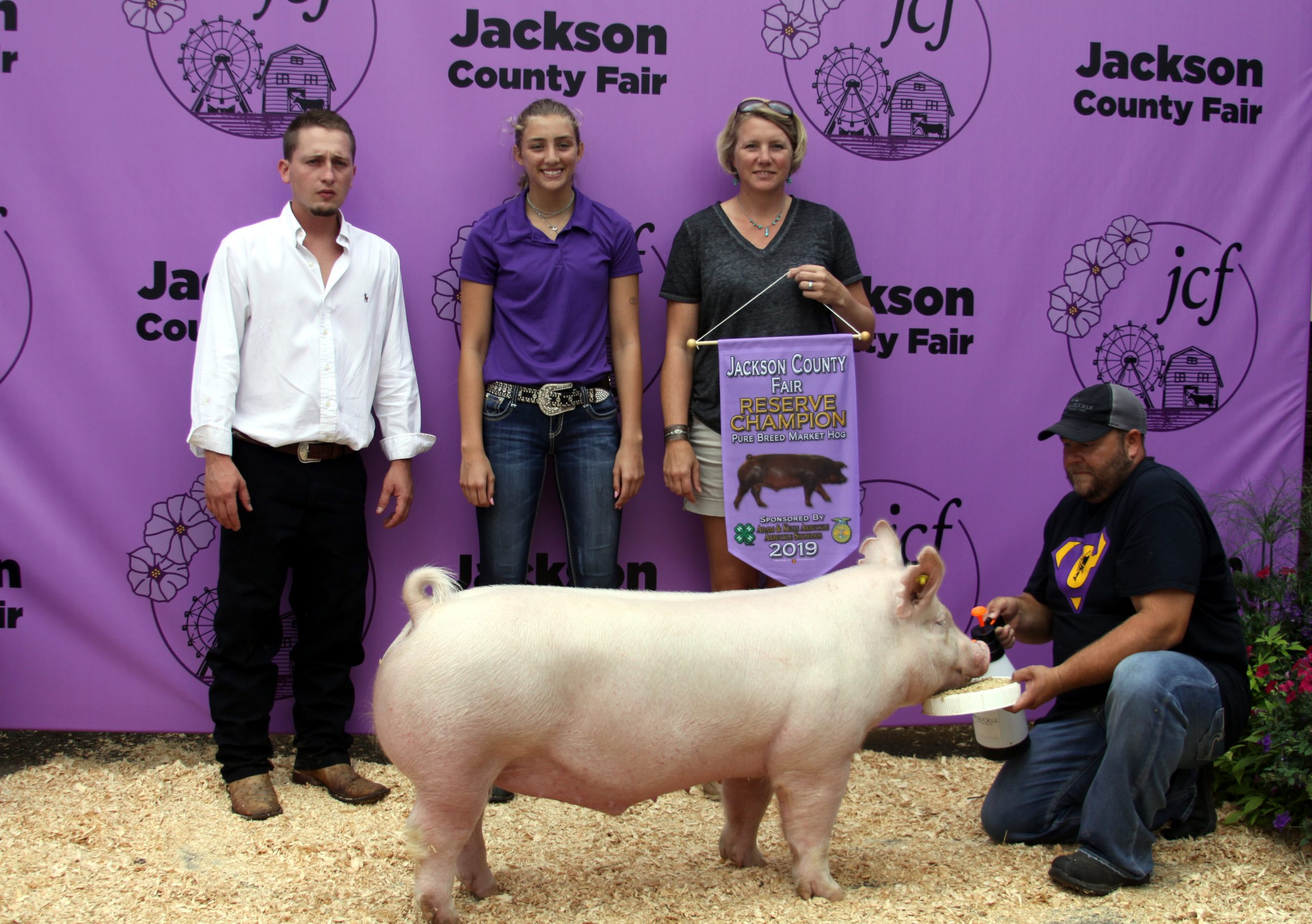 Jackson County Fair,Champion York, Reserve Champion Purebred, Sired by Hand It Over